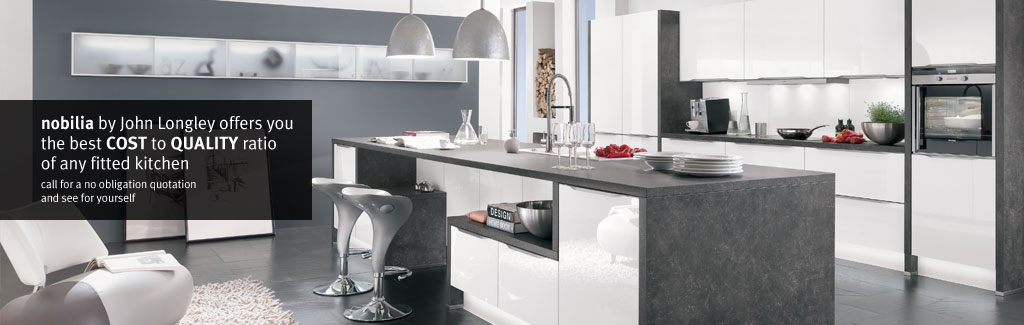 Nobilia modern fitted kitchens in barnsley sheffield and wakefield john longley kitchen design Bathroom design and installation sheffield